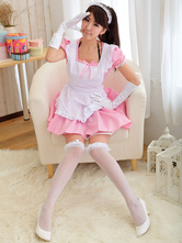 Anime Costumes AF-S2-580243 Pink Bow Lolita Cotton Maid Costume