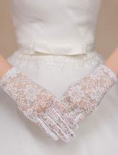 Chic di pizzo da polso guanti da sposa