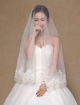 Elfenbein Spitze Tüll trendige Hochzeitsschleier
