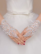 Ivory Lace Chic Wedding Bridal Mitten