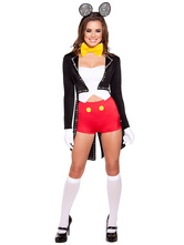 Anime Costumes AF-S2-582231 Halloween Multicolor Mickey Mouse Trendy Polyester Costume for Women