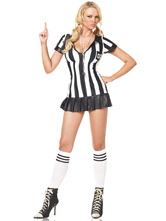 Anime Costumes AF-S2-582931 Halloween Two-Tone Chic Referee Polyester Costume for Women