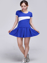 Anime Costumes AF-S2-582971 Halloween Blue Football Baby Cheerleader Polyester Costume