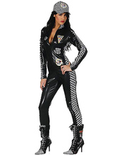Anime Costumes AF-S2-582943 Halloween Black Car Racing Driver Synthetic Costume for Women