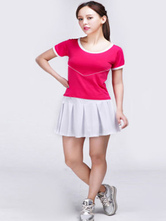 Anime Costumes AF-S2-582981 Halloween Color Block Ruffles Football Baby Cheerleader Polyester Costume