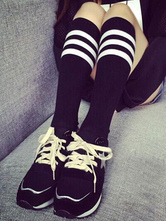 Anime Costumes AF-S2-582915 Halloween Black Stripes Cotton Stockings for Women