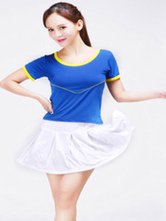 Anime Costumes AF-S2-582975 Halloween Color Block Football Baby Cheerleader Polyester Costume