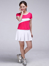 Anime Costumes AF-S2-582983 Halloween Color Block Chic Football Baby Cheerleader Polyester Costume