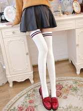 Anime Costumes AF-S2-582927 Halloween Multicolor Stripes Over-the-Knee Cotton Stockings for Women