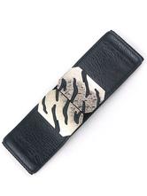 Leopard Print Metal Details Faux Leather Belt for Women