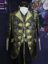Baroque Multicolor Print Synthetic Coat Costume Halloween