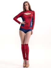 Anime Costumes AF-S2-583743 Halloween Red Spiderman Polyester Sexy Costume for Women