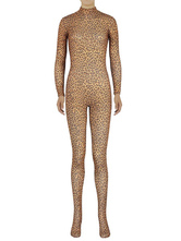 Anime Costumes AF-S2-585283 Halloween Multicolor Leopard Print Zentai Slim Fit Spandex Jumpsuit for Women