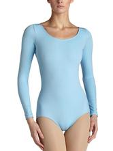 AF-S2-585345 Sky Blue Ballet Dance Costume Slim Fit Lycra Spandex Teddies for Women