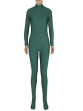 Anime Costumes AF-S2-585277 Halloween Basil Green Zentai Slim Fit Spandex Jumpsuit for Women