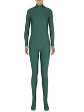 AF-S2-585277 Halloween Basil Green Zentai Slim Fit Spandex Jumpsuit for Women
