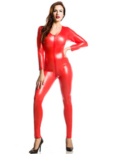 Anime Costumes AF-S2-585213 Red Zentai Shiny Metallic Jumpsuit for Women Halloween Costume Cosplay