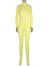 Anime Costumes AF-S2-585295 Halloween Light Yellow Zentai Slim Fit Spandex Jumpsuit for Women