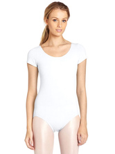 Anime Costumes AF-S2-585339 White Ballet Dance Costume Slim Fit Lycra Spandex Teddies for Women