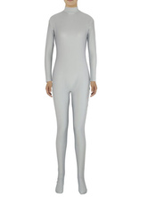 Anime Costumes AF-S2-585291 Halloween Light Gray Zentai Slim Fit Spandex Jumpsuit for Women