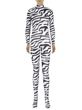 Anime Costumes AF-S2-585255 Halloween Zebra Print Zentai Sexy Spandex Jumpsuit for Women