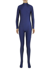 AF-S2-585275 Halloween Slim Fit Spandex Jumpsuit for Women Navy Zentai Costume Cosplay