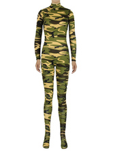 Anime Costumes AF-S2-585299 Halloween Multicolor Zentai Camouflage Slim Fit Spandex Jumpsuit for Women