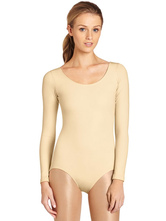 AF-S2-585347 Nude Ballet Dance Costume Slim Fit Lycra Spandex Teddies for Women