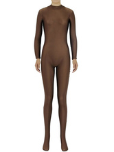 Anime Costumes AF-S2-585313 Halloween Brown Zentai Slim Fit Spandex Jumpsuit for Women