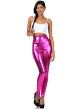 Anime Costumes AF-S2-585217 Halloween Rose Red Leggings Shiny Metallic Skinny Pants for Women