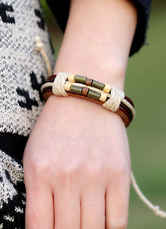 Multicolor Bracelet Layered Faux Leather Bracelet for Men