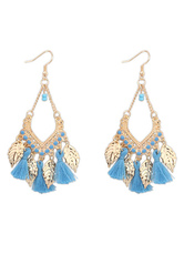 Multicolor Earrings Boho Fringe Drops Design Resin Earrings