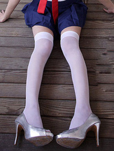 AF-S2-586851 Halloween White Stockings Angel Cosplay Spandex Stockings for Women