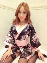 Anime Costumes AF-S2-588795 Halloween Sexy Geisha Costume Multicolor Kimono Print Polyester Costume For Women
