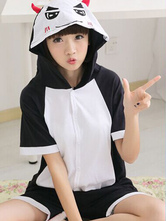 AF-S2-589909 Kigurumi Pajamas Devil Onesie Adults Multicolor Hooded Cotton Costume