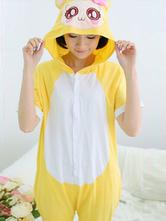 AF-S2-589897 Kigurumi Pajamas Monkey Onesie Yellow Hooded Cotton Costume