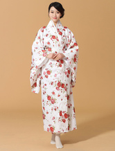 Anime Costumes AF-S2-589271 Multicolor Kimono Print Silk Japanese Costume for Women
