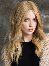 AF-S2-589825 Gold Wig Bangs Long Curly Fiber Wig for Women