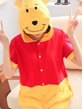 Anime Costumes AF-S2-589921 Kigurumi Pajamas Winnie the Pooh Onesie Adults Hooded Cotton Costume