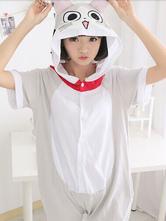 AF-S2-589903 Kigurumi Pajamas  Chis Onesie Gray Sweet Home Hooded Cotton Costume