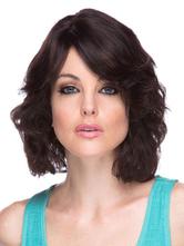 AF-S2-589799 Black Wig Curly Medium Fiber Wig for Women