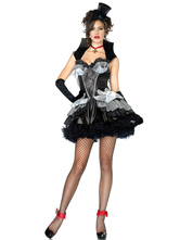 Anime Costumes AF-S2-590953 Halloween Black Demon Costume Tiered Polyester Devil Costume for Women