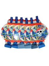 Anime Costumes AF-S2-590853 Halloween Pirate Skull Blowout Plastic Multicolor Party Toy