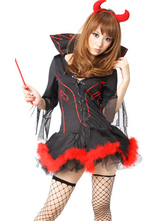 Anime Costumes AF-S2-590943 Halloween Black Demon Costume Sexy Polyester Devil Costume for Women