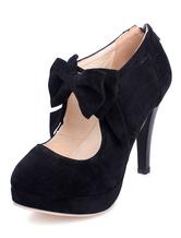 Chaussures Lolita Noir Talon Haut 2021 Plateforme Sexy Mignonne
