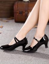 Black Dance Shoes Women Ballroom Shoes Round Toe Latin Dancing Shoes