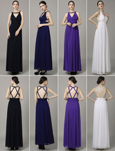 Chiffon A-Line Prom Dress With Halter Sleeveless Pleated
