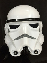 Anime Costumes AF-S2-593975 Star Wars Mask White PVC Cosplay Costume