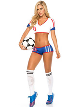 Anime Costumes AF-S2-595089 Halloween USA Cheering Squad Costume Multicolor Crop Polyester Costume for Women