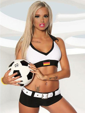 Anime Costumes AF-S2-595099 Halloween German Football Cheering Squad Costume White Polyester Costume for Women